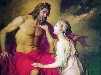 Thetis cau xin Zeus
