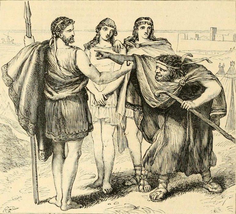 Thersites đang sỉ vả Agamemnon