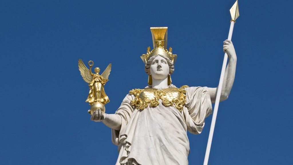 tượng nữ thần Athene