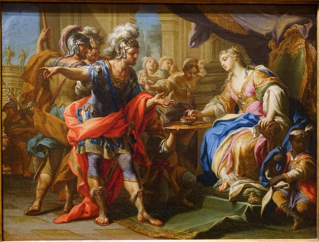 bua tiec cua Marc Antony va Cleopatra
