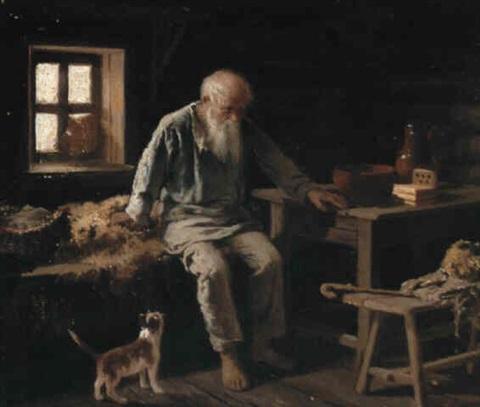 ông già và con mèo