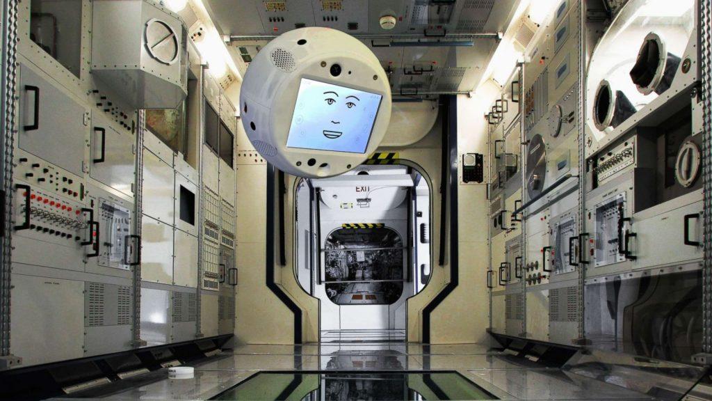 đầu robot CIMON trên trạm không gian